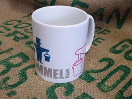 """Kaffeepott Porzellan """"Nur der Hummelmann"""""""