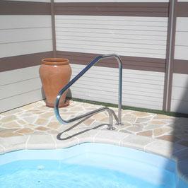 Sortie de bain avec platine soudée