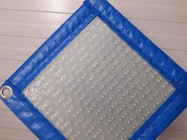 Bâche à Bulles 500 microns Translucide Sol + Guard - Modèles Piscines Ibiza (délais de fabrication communiqué par e-mail le stock ne nous permet pas de livrer en 8 jours en pleine saison)