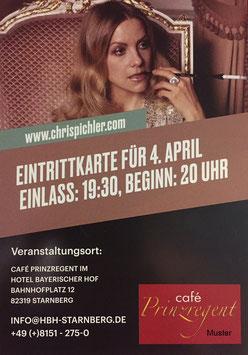 """Eintrittskarte zum Theaterstück im Hotel Bayerischer Hof Starnberg: """"Der gefährliche Duft der Liebe"""""""