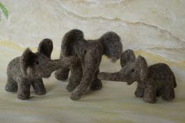 Elefantenfamilie, Elefant, Filzelefant, Filztier