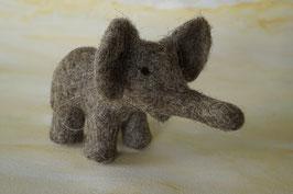 Elefantenkind klein, Filztier, Filzelefant, Elefant