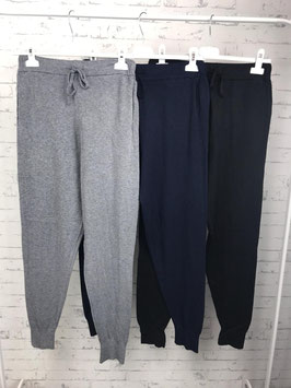 Jog-Pants mit Gummizugbund und Bindeband
