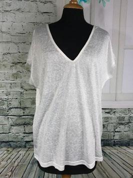 V Shirt mit Rücken Lace