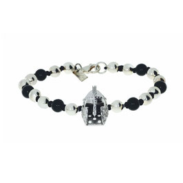 Silber Armband mit Helm