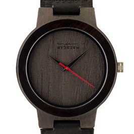 BySezen wood Watch black