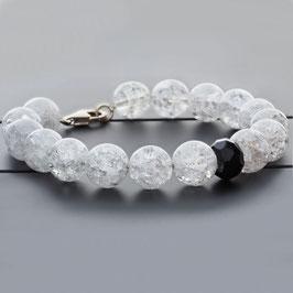 Bergkristall Armband 925 Sterling Silber Kette