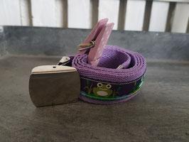 kindergürtel, violett mit fröschli