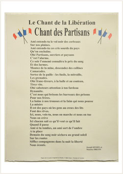 Chants des Partisans - Chant de la libération
