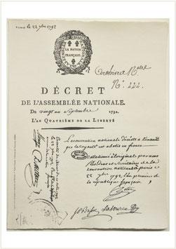 """1er """"Décret de l'Assemblée Nationale"""""""