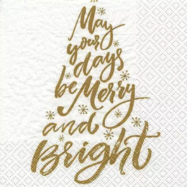 May Your Days Be Merry gold