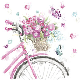 Pink Bicycle with Basket