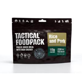 Tactical Foodpack Reis mit Schweinefleisch
