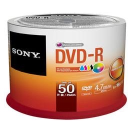 Sony DVD-R 4.7 GB 50 Stück Spindel