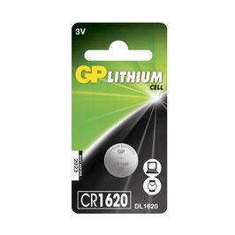 GP Batteries Lithium Knopfzelle CR1620