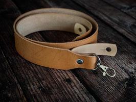 SALE: Breiter Kameragurt aus Leder