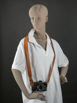 Breiter Kameragurt aus Leder / Modell 2019 / KG-S3B