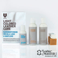 LIGHT COLOURED LEATHER CARE MAXI KIT