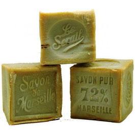 Savon de Marseille  72% EXTRA PUR (huile d'Olive ou Végétale):