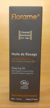 Huile de rasage bio 30 ml