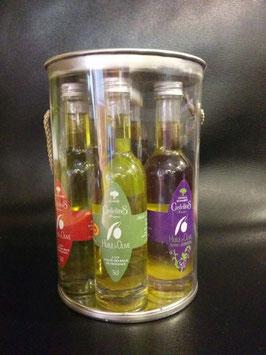 Coffret de 6 mignonnettes d'huiles d'olive