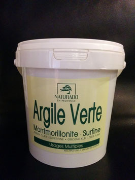 Argile verte Montmorillonite surfine 1 kg