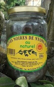 Olives noires de Nyons AOP le bocal de 220 gr