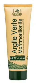 Pate d'Argile Verte Montmorillonite avec de l'Aloe Vera Bio