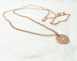 Namenskette rosévergoldete Initialen 925 Silberkette