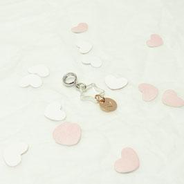 °dressa° Silberstern + rose Plättchen  925 Silberanhänger