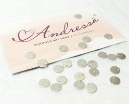 1 extra Plättchen 925 Silber 6,6 mm