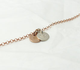 Hashtag Herz 925 Silberarmband rosévergoldet