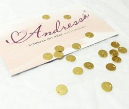 1 extra Plättchen vergoldet 925 Silber 6,6 mm