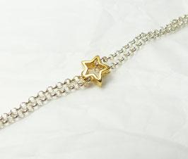 Du bist mein Stern 925 Silberarmband