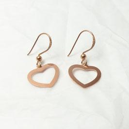 Ohrringe Herzen 925 Silber rosévergoldet