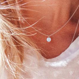 Sternzeichenkette 1 kleines rundes Plättchen 925 Silberkette