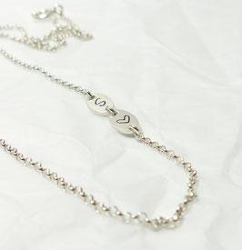Namenskette sideways Initialen 925 Silberkette
