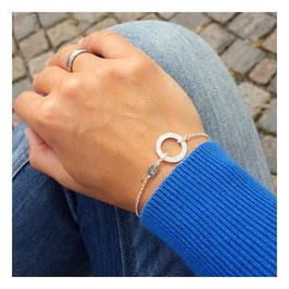 Initial Karma / Circle 925 Silberarmband