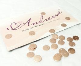1 extra Plättchen rosévergoldet 925 Silber 6,6 mm