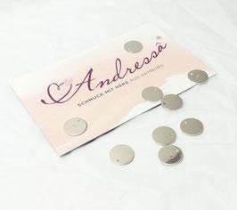 1 extra Plättchen 925 Silber 10 mm