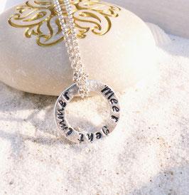 Dein Spruch - Karma / Circle 925 Silberkette