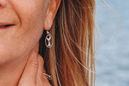 Andressa - oceanlover 925 Sterling Silber Ohrringe - Flosse Meerjungfrau