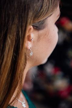Ohrringe mit einem Stern 925 Sterling Silber