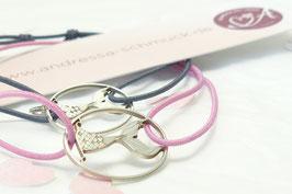 Andressa - oceanlover elastisches Armband 925 Sterling Silber Flosse Meerjungfrau