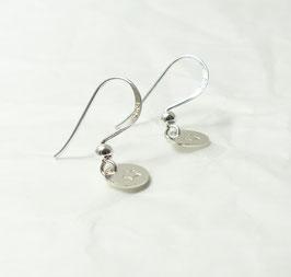 Ohrringe mit Plättchen 925 Silber / Namensschmuck