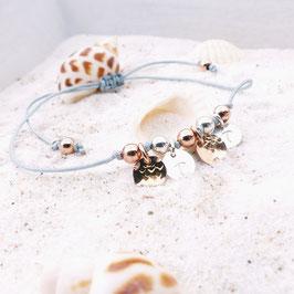 Perlen und Plättchen 925 Sterling Silber - Bicolor - perfekt zu jedem Look!