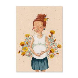 "Postkarte ""Werdende Mama"""