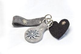 Schlüsseltasche, Schlüsseltäschchen aus Filz