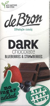 DeBron Dunkle Schokolade Blau-&Erdbeere ohne Zuckerzusatz