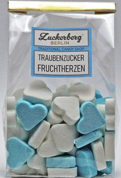 Traubenzucker Fruchtherzen Blau-Weiß